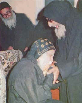 The Late Father Andrewis of St. Samuel Monastery with His Grace Bishop Mina Ava- Mina, Head of St. Mina Monastery