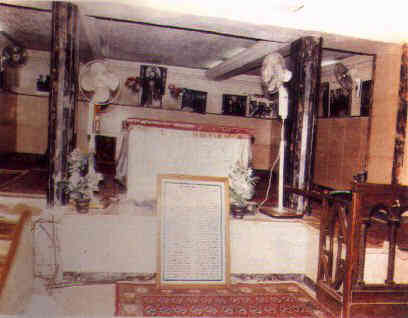 Pope St. Kyrillos VI shrine situated under the Cathedral's sanctuary