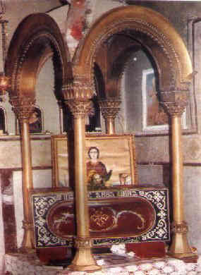 The relics of St. Mina the Martyr at St. Mina Monastery in Mariut